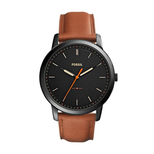 The Minimalist Slim Three-Hand Light Brown Leather Watch Spicer Cole Fine Jewellers and Spicer Fine Jewellers Fredericton, NB