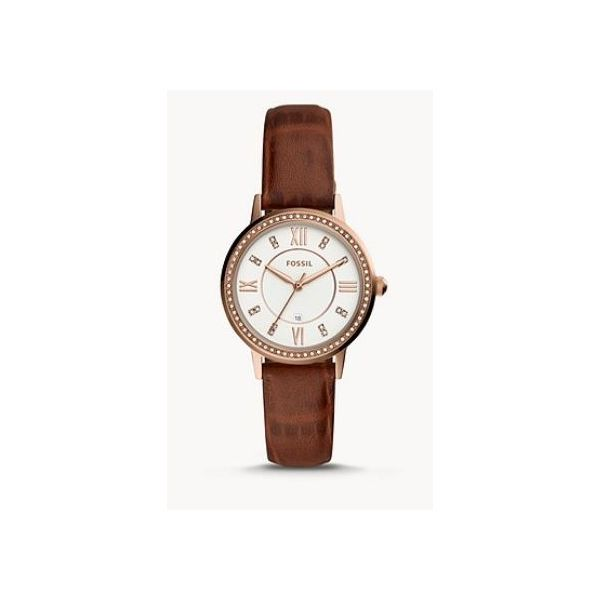 Gwen Three-Hand Date Brown Leather Watch Spicer Cole Fine Jewellers and Spicer Fine Jewellers Fredericton, NB