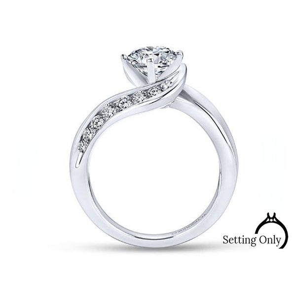 Gabriel & Co. White Gold Bypass Diamond Engagement Ring Image 2 Stambaugh Jewelers Defiance, OH