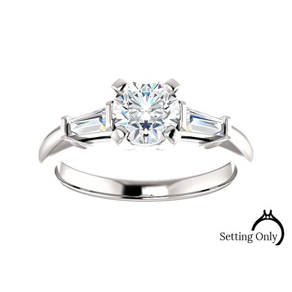 Straight Line Engagement Mounting Stambaugh Jewelers Defiance, OH