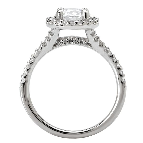 14kt White Gold Halo Engagement Ring by Romance Image 2 Stambaugh Jewelers Defiance, OH