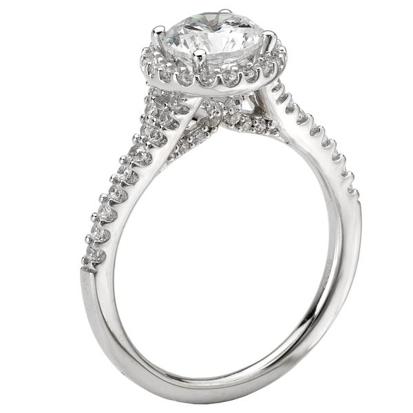 14kt White Gold Round Halo Engagement Ring by Romance Image 2 Stambaugh Jewelers Defiance, OH