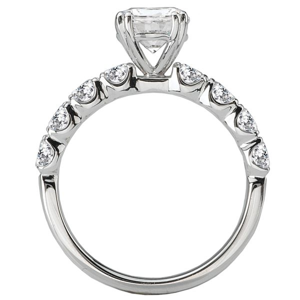 14kt White Gold Halo Engagement Ring by Romance Image 3 Stambaugh Jewelers Defiance, OH