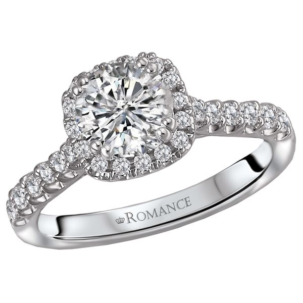14kt White Gold Engagement Ring by Romance Image 2 Stambaugh Jewelers Defiance, OH