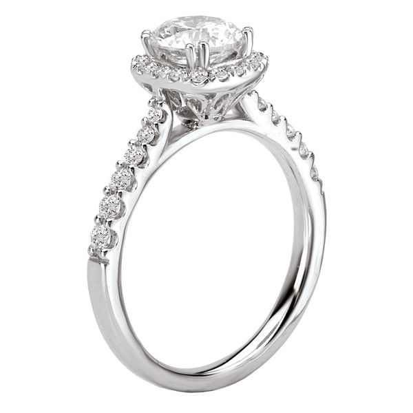 14kt White Gold Engagement Ring by Romance Image 3 Stambaugh Jewelers Defiance, OH