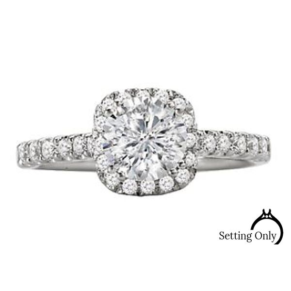 14kt White Gold Engagement Ring by Romance Stambaugh Jewelers Defiance, OH