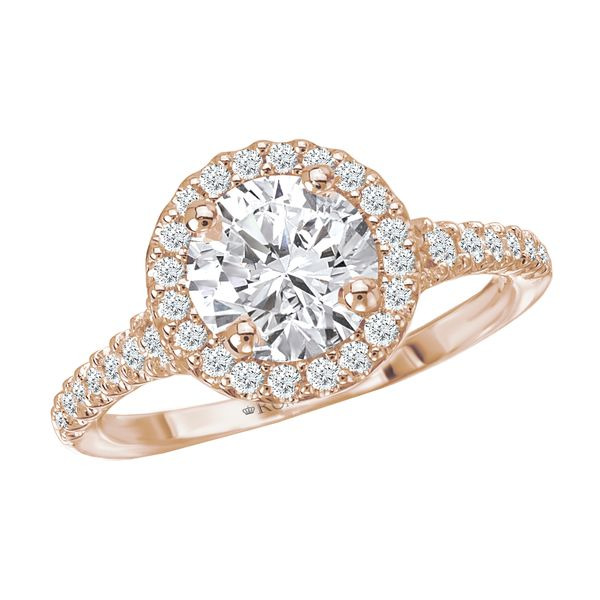 14kt Rose Gold Halo Engagement Ring by Romance Image 2 Stambaugh Jewelers Defiance, OH