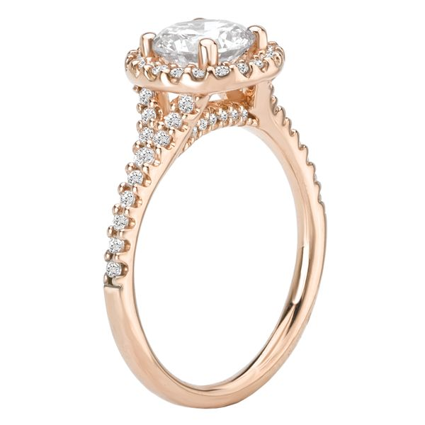 14kt Rose Gold Halo Engagement Ring by Romance Image 3 Stambaugh Jewelers Defiance, OH