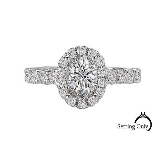 14kt White Gold Halo Engagement Ring by Romance Stambaugh Jewelers Defiance, OH