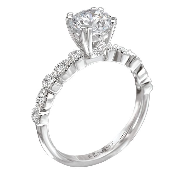 14kt White Gold Vintage Engagement Ring by Romance Image 3 Stambaugh Jewelers Defiance, OH