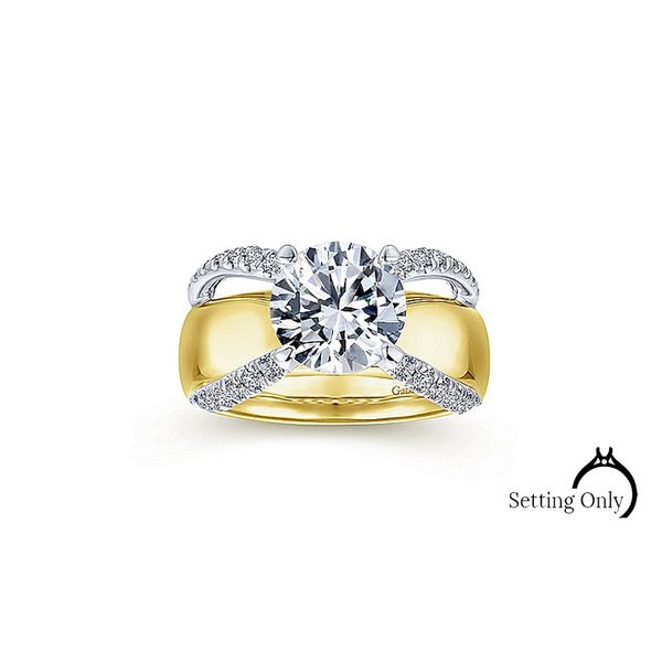 Gabriel & Co. 14kt Gold Diamond Engagement Ring