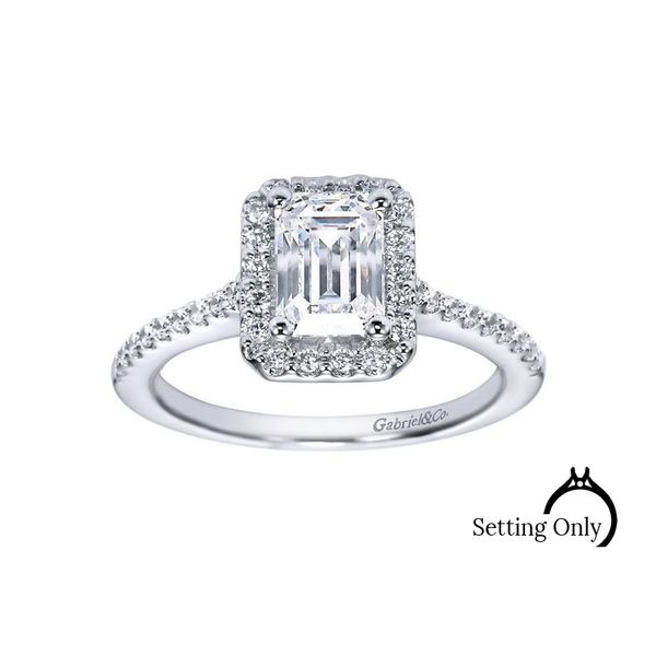 Kelsey 14k White Gold Engagement Ring by Gabriel & Co. Stambaugh Jewelers Defiance, OH