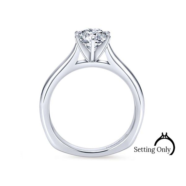 Allie14kt White Gold Solitaire Engagement Ring by Gabriel & Co Image 2 Stambaugh Jewelers Defiance, OH