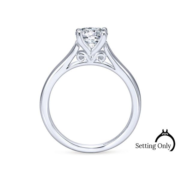 Gillian 14kt White Gold Solitaire Engagement Ring by Gabriel & Co. Image 2 Stambaugh Jewelers Defiance, OH