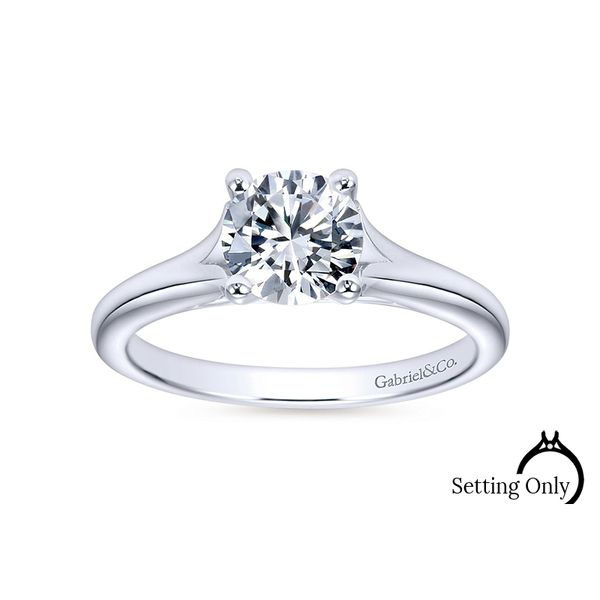 Gillian 14kt White Gold Solitaire Engagement Ring by Gabriel & Co. Stambaugh Jewelers Defiance, OH