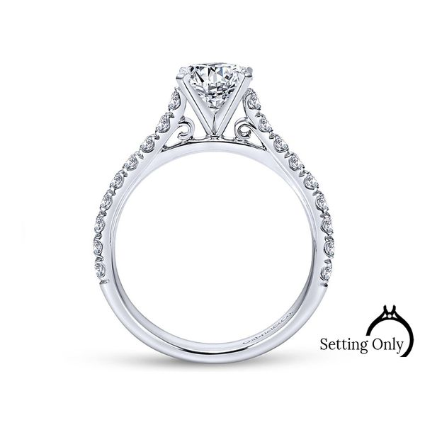 Erica 14kt White Gold Engagement Ring by Gabriel & Co. Image 2 Stambaugh Jewelers Defiance, OH