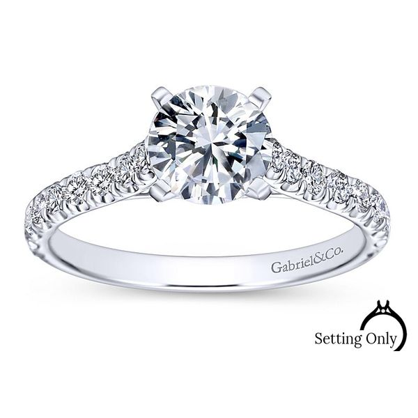 Erica 14kt White Gold Engagement Ring by Gabriel & Co. Stambaugh Jewelers Defiance, OH