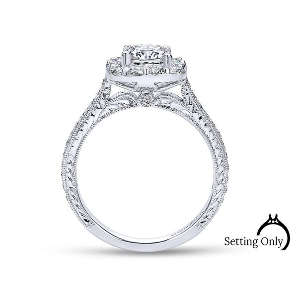 Zelda 14kt White Gold Solitaire Engagement Ring by Gabriel & Co Image 2 Stambaugh Jewelers Defiance, OH