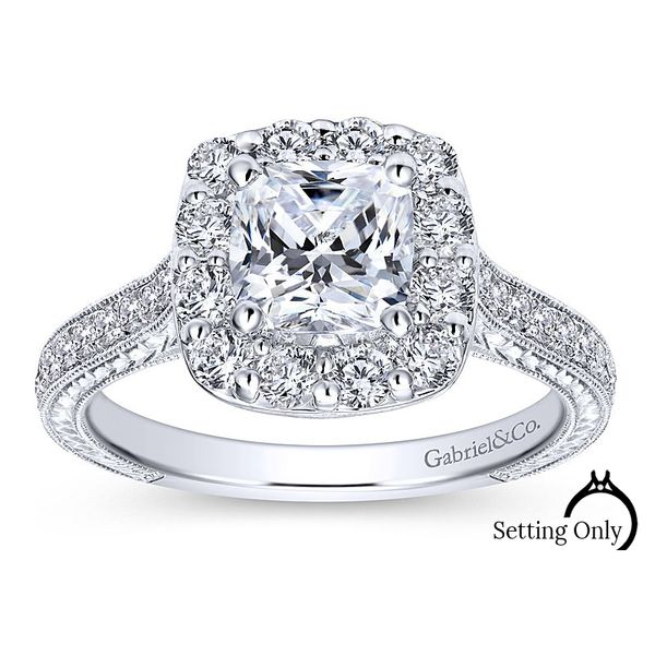 Zelda 14kt White Gold Solitaire Engagement Ring by Gabriel & Co Stambaugh Jewelers Defiance, OH