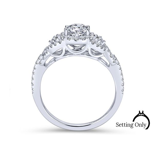Kalinda 14kt White Gold Halo Engagement Ring by Gabriel & Co. Image 2 Stambaugh Jewelers Defiance, OH