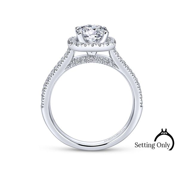 Brianna14kt White Gold Halo Engagement Ring by Gabriel & Co. Image 2 Stambaugh Jewelers Defiance, OH