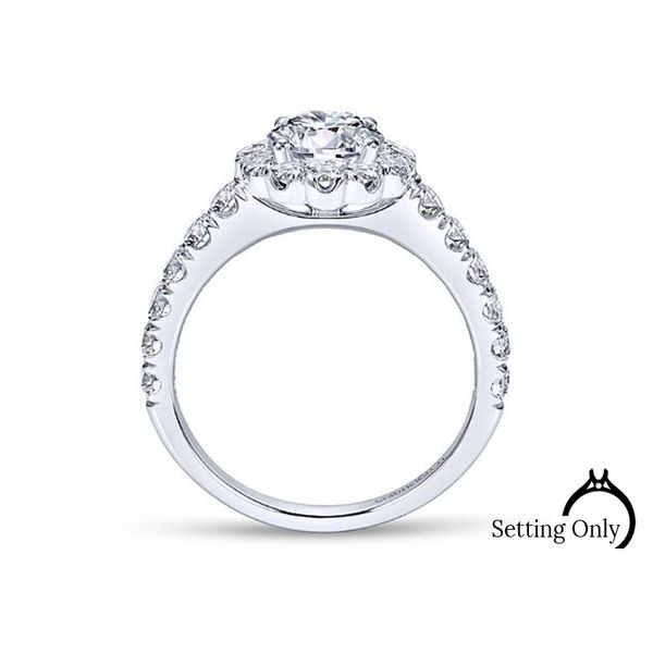 Rosalyn Engagement Ring by Gabriel & Co Image 2 Stambaugh Jewelers Defiance, OH