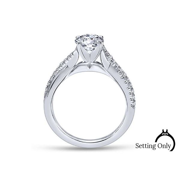 Scout 14kt White Gold Twist Engagement Ring by Gabriel & Co. Image 2 Stambaugh Jewelers Defiance, OH