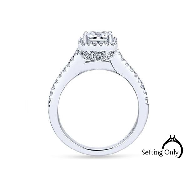 Lindsey 14kt White Gold Halo Engagement Ring by Gabriel & Co. Image 2 Stambaugh Jewelers Defiance, OH