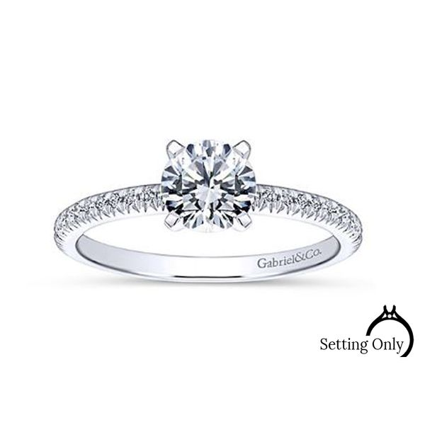 Oyin 14kt White Gold Engagement Ring by Gabriel & Co Stambaugh Jewelers Defiance, OH