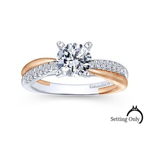 Kendall 14kt White and Rose Gold Engagement Ring by Gabriel & Co Stambaugh Jewelers Defiance, OH