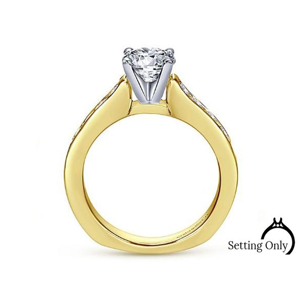 Anderson 14kt Yellow Gold Engagement Ring by Gabriel & Co Image 2 Stambaugh Jewelers Defiance, OH