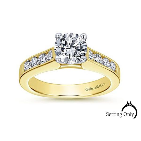 Anderson 14kt Yellow Gold Engagement Ring by Gabriel & Co Stambaugh Jewelers Defiance, OH