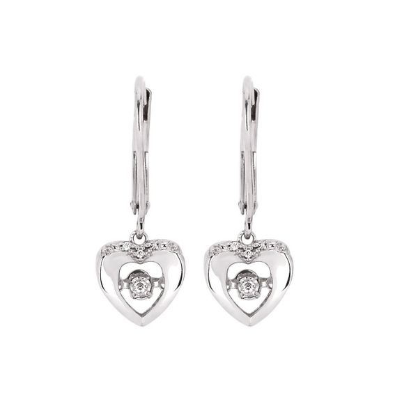 Shimmering Diamond Heart-Shaped Earrings Stambaugh Jewelers Defiance, OH