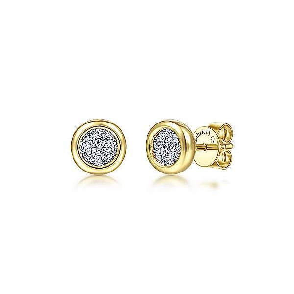 14K Yellow-White Gold Earrings by Gabriel & Co. Stambaugh Jewelers Defiance, OH