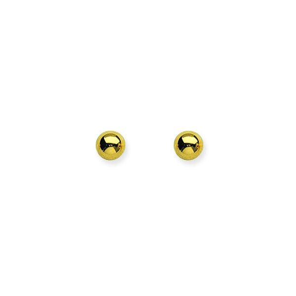 Yellow Gold 5 mm Ball Stud Earrings SVS Fine Jewelry Oceanside, NY
