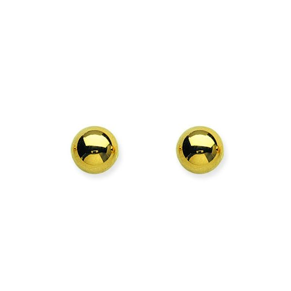 Yellow Gold 8mm Ball Stud Earrings SVS Fine Jewelry Oceanside, NY