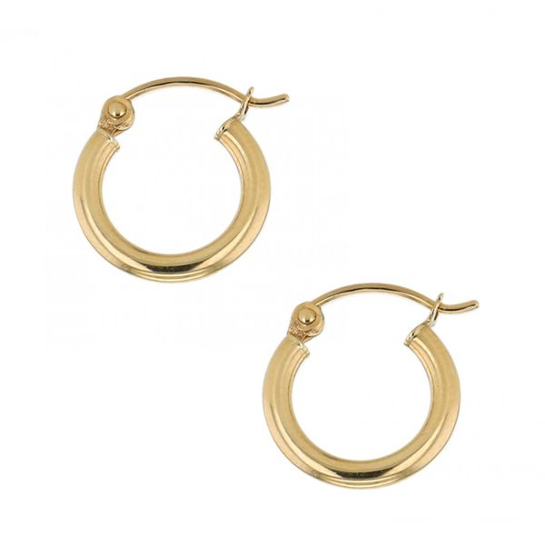 14K Yellow Gold Polished Hoops 20 mm SVS Fine Jewelry Oceanside, NY