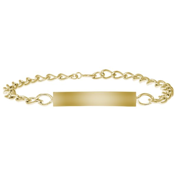 Kiddie Kraft 14K Yellow Gold Filled ID Bracelet, 6.25