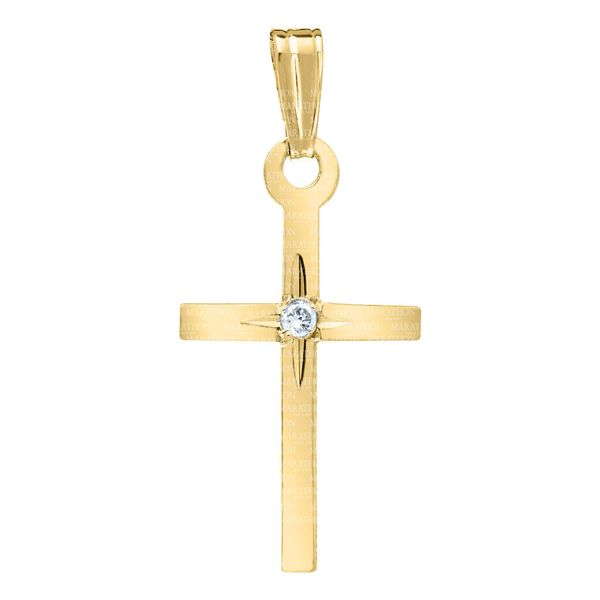 Kiddie Kraft 14K Yellow Gold Cross SVS Fine Jewelry Oceanside, NY