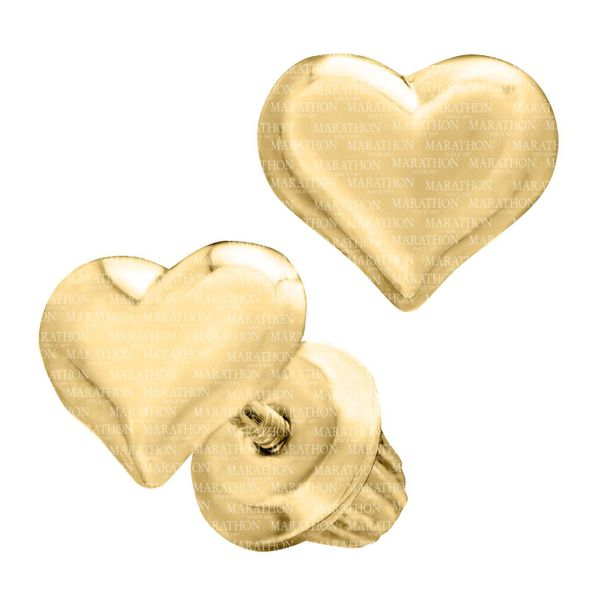Kiddie Kraft 14K Yellow Gold Heart Earrings Image 2 SVS Fine Jewelry Oceanside, NY