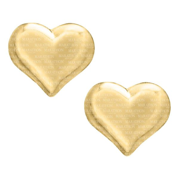 Kiddie Kraft 14K Yellow Gold Heart Earrings SVS Fine Jewelry Oceanside, NY