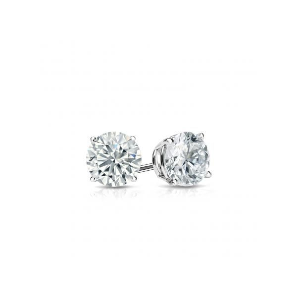 14K White Gold Diamond Stud Earrings .43Cttw SVS Fine Jewelry Oceanside, NY