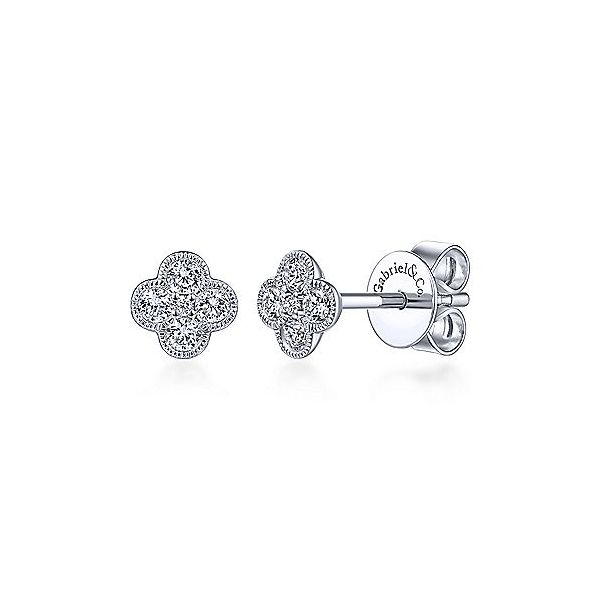Gabriel & Co. White Gold Diamond Studs SVS Fine Jewelry Oceanside, NY