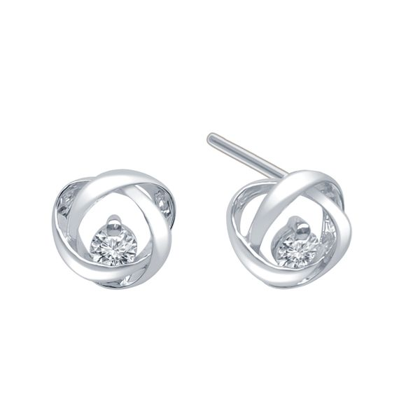 SVS Signature 101© Sterling Silver Time and Eternity Studs SVS Fine Jewelry Oceanside, NY