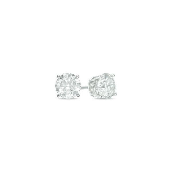 14K White Gold Diamond Stud Earrings, 1.00Cttw SVS Fine Jewelry Oceanside, NY