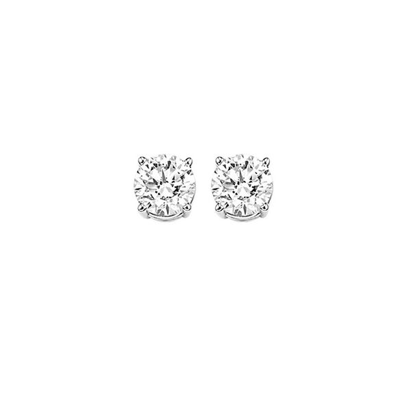 Diamond Round Classic Solitaire Stud Earrings SVS Fine Jewelry Oceanside, NY