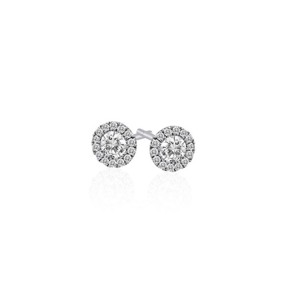 Diamond Halo Stud Earrings, 0.53Cttw SVS Fine Jewelry Oceanside, NY