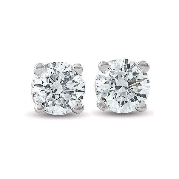 14K White Gold Diamond Stud Earrings, 0.08Cttw SVS Fine Jewelry Oceanside, NY