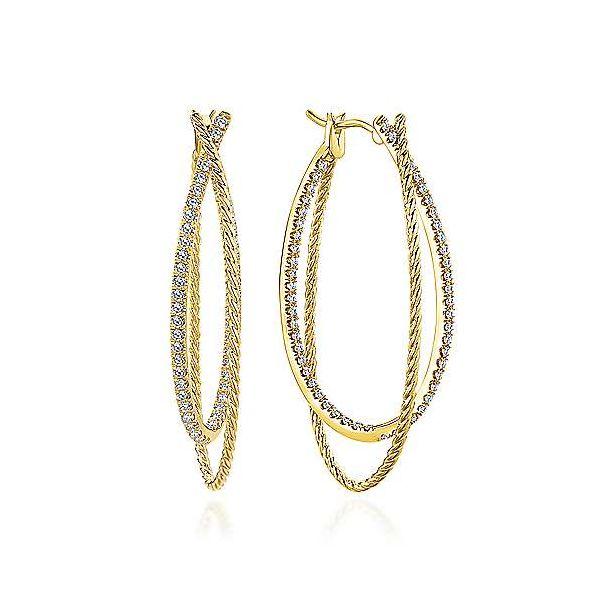 25f6ff0c6a18d Gabriel & Co. Hampton 14K Yellow Gold Diamond Hoops