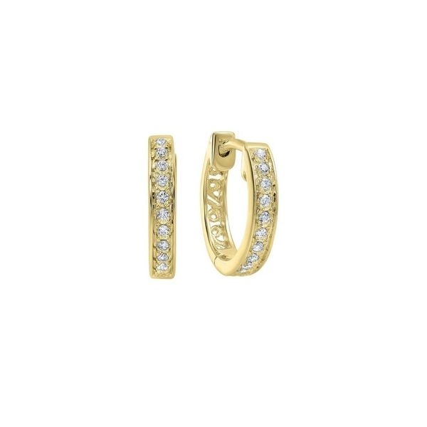 Diamond Slim Hoop Earrings SVS Fine Jewelry Oceanside, NY